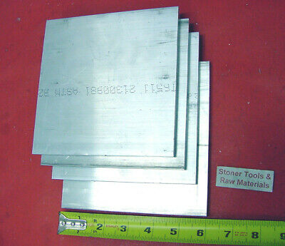 "4 pieces 1/2"" X 5"" ALUMINUM 6061 Flat Bar 6"" LONG T6511 .500 Plate Mill Stock"