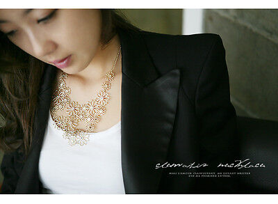 Fashion  Style Gold Plated Honorable camellia clavicular Chains  Necklace CF0090