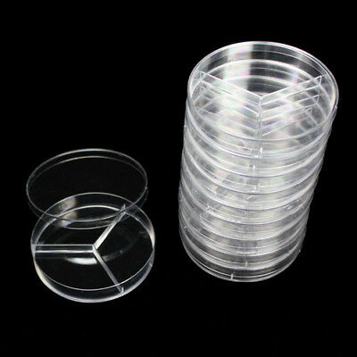 New 10pcs 90mm plastic Polystyrene Petri Dishes with lids Sterile Labware