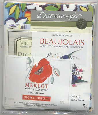 90 Very Attractive French Wine Labels - Free Shipping - Beautiful Lot 2
