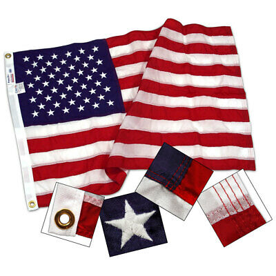 5x8 ft US American Flag Sewn Stars & Stripes Outdoor Nylon Valley Forge USA MADE