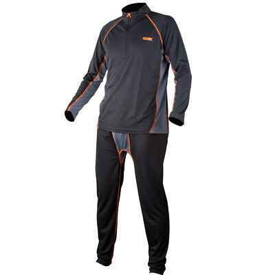 Fox Chunk Baselayer Set Black / Grey Thermo Unterwäsche Größe S - XXXL