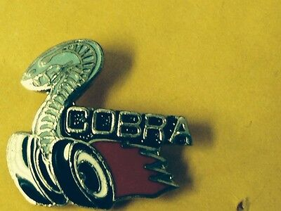 1 new  Cobra   lapel tie hat  small  size pin with backing plate