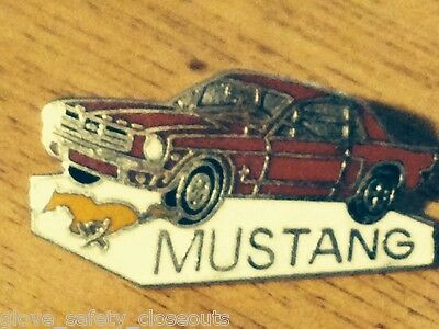 Brand new Ford Mustang in red large size   collectors lapel and hat pin