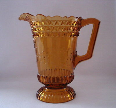 EAPG C.1874 Amber Wildflower Water Pitcher