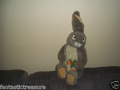 Vintage Dakin Uncle Jacques Plush Doll Toy Jointed Hare & Carrot Shoulder Bag