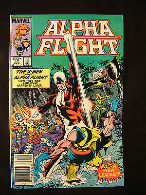 Vintage Marvel Alpha flight #17 comic book action x-men Byrne superhero art