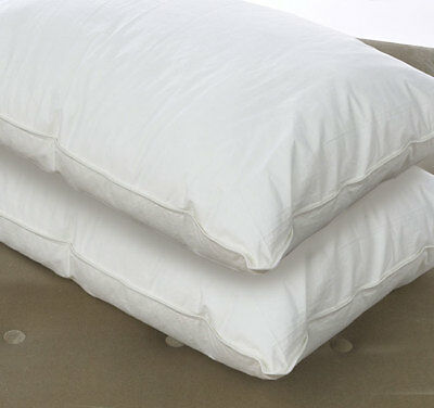 Luxury 100% Pure Siberian Goose Down Pillow Pair