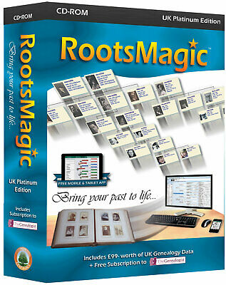 RootsMagic Version 7 UK Platinum Edition (Genealogy Software)