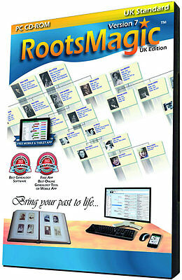 RootsMagic Version 7 UK Standard Edition (Genealogy Software)