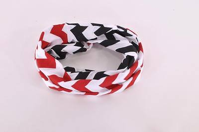 Baby TODDLER Child Girls Red Black Handmade Loop Chevron Circle Infinity Scarf