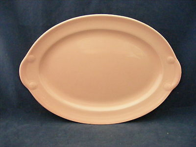 "Lu-Ray Pink 13.25"" Oval Platter TS&T Very Good Condition"