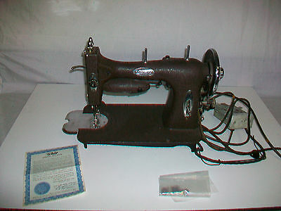 Vintage 1950 White Rotary Sewing Machine still works