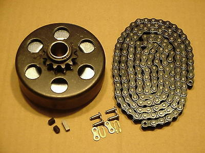 "3/4"" Clutch & Chain #35 Go Kart Go Cart Minibike Parts"