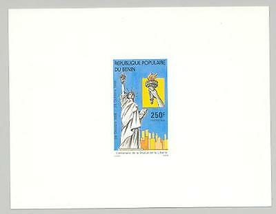 Benin 1986 Statue of Liberty 1v Deluxe Sheet