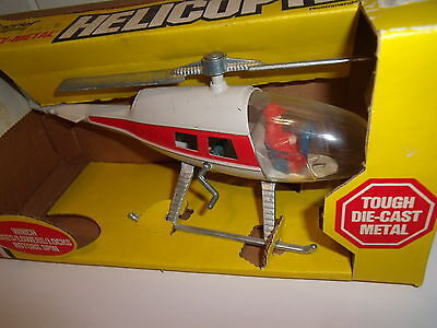 GABRIEL MIGHTY METAL HELICOPTER  WITH WINCH ABOUT 10 INCHES