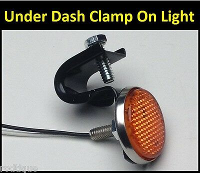 12 Volt 5 LED Turn Signal Switch Light , Under Dash Clamp On -ATTENTION GETTER-1