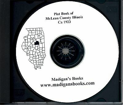 McLean Co Illinois IL plat book genealogy Bloomington history land owner 1923 cd