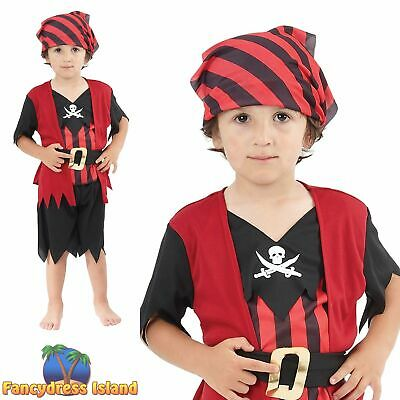 KIDS PIRATE BUCCANEER DECK HAND BOOK WEEK - Age 2-3 - boys fancy dress costume