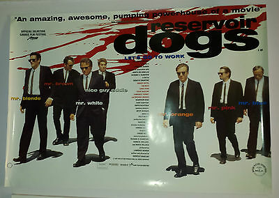 "Quentin Tarantino Reservoir Dogs "" lets go to work "" poster huge 695 x 1000mm"