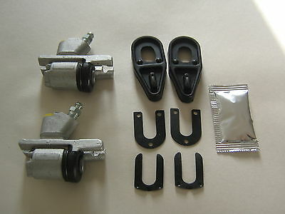 Pair Of Reliant Rialto & Robin Rear Wheel Brake Cylinders, & Fitting Kit