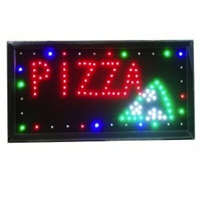 INSEGNA LUMINOSA '' PIZZA'' A LED dinamici LUCI COLORATE INSEGNE per PIZZERIA