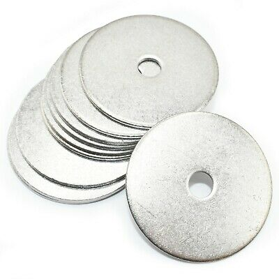 M6 x 40mm PENNY WASHERS - A2 STAINLESS STEEL  LARGE WASHER TO FIT BOLTS / SCREWS