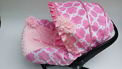 baby car seat cover canopy cover fit most infant car seat headband baby pink