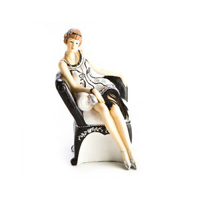 Girl On Chair Woman vintage Decor Collection Item Decoration Home Room Statue