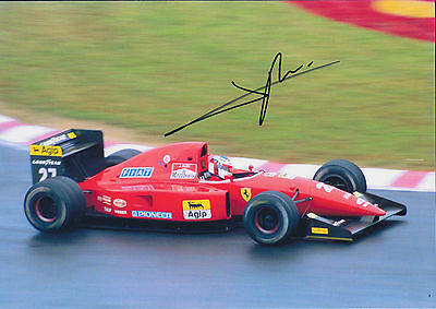 Jean ALESI SIGNED FERRARI F1 Autograph 12x8 Photo AFTAL COA French Racing Driver