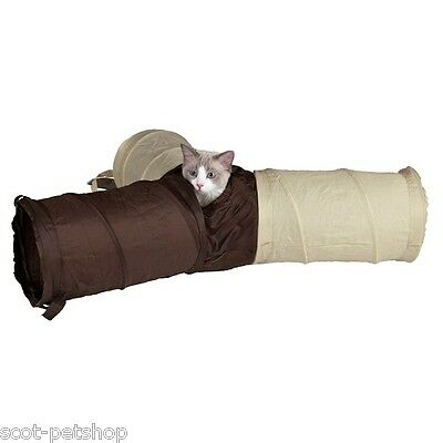 NEUF Trois Façon Play Tunnel Pour Chats & Chatons • EUR 19,96