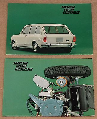 (39B) 2 Catalogues Fiat 128 Break