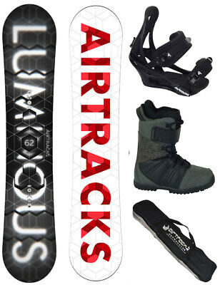 AIRTRACKS Snowboard Set Luminous Wide+Bindung+Boots+Bag+Pad / 152 157 159 162 cm
