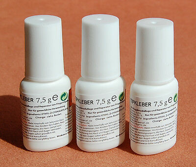 3 X 7,5 G Pro Adhesive Tip Glue with the Brush