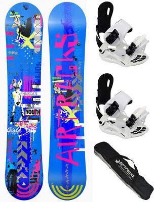 AIRTRACKS Snowboard Set:Bluebird Rocker+Bindung Savage W+SB Bag+Pad/138 145 151