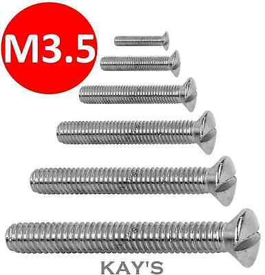 M3.5 Long Screws For Electric Light Switch,plug Socket,front Plates,chrome