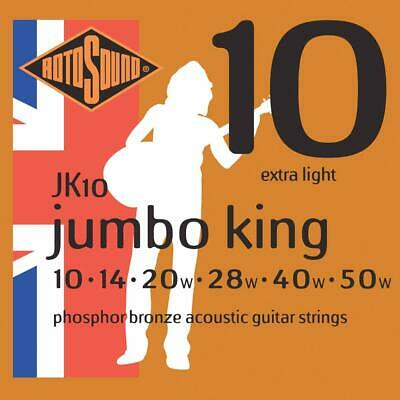 Rotosound JK10 Jumbo King Phosphor Bronze Acoustic Guitar Strings 10-50
