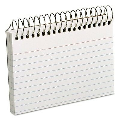 Oxford - Spiral Index School Study Note Cards, 3 x 5, 50 Cards - White