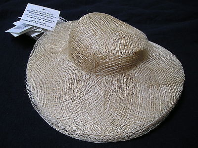 """WHOLESALE LOT 12 -  8"""" Diameter Brim NEW SINAMAY  DOLL HATS Ready to decorate"""