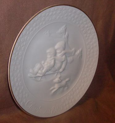 Avon Collector Christmas Plates 1985 - 1993 with Boxes Ceramic