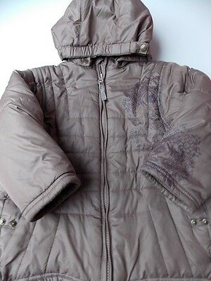 3-4y BARBARA FARBER girls designer ultra warm brown winter coat 104 4y