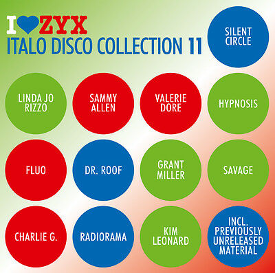 CD ZYX ITALO DISCO COLLECTION 11 by Various Artists 3 CDs
