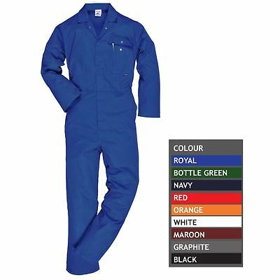 Portwest Standard Work Coverall Stud Front Elastic Back Waist Boilersuit C802