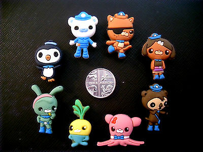 8 x Octonauts Shoe Croc Charms Jibbitz Captain Barnacles Kwazii Dashi Tweak Peso