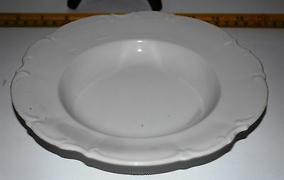 HUTSCHENREUTHER Sylvia Rim Soup Bowl*All White, No Trim*Vintage Germany