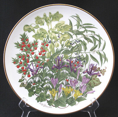 FRANKLIN PORCELAIN FLOWERS OF THE YEAR PLATE COLLECTION WEDGWOOD FEBRUARY mint