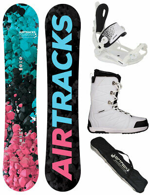 AIRTRACKS Snowboard Set: Board Bluebird+RAGE Fastec 360 W+Boots+Bag /151 155 cm/