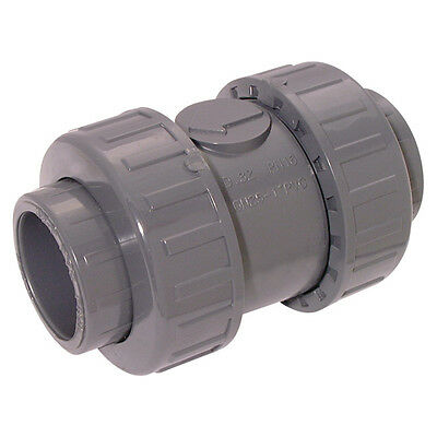 "Upvc And Abs Tubes & Valves - 1.1/2"" Id Upvc Check Valve Double Union 8-00076"
