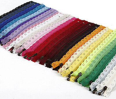 25 30 35 50 60 CM Closed End Lace Zipper for Bags Manufacture No.3 DIY HHEB5