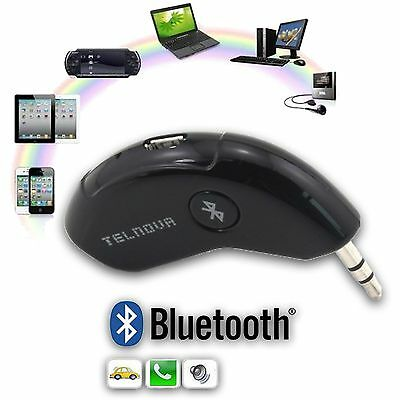 Bluetooth Receiver Car Hands Free Kit Wireless Music Streaming 3.5mm Adapter AUX